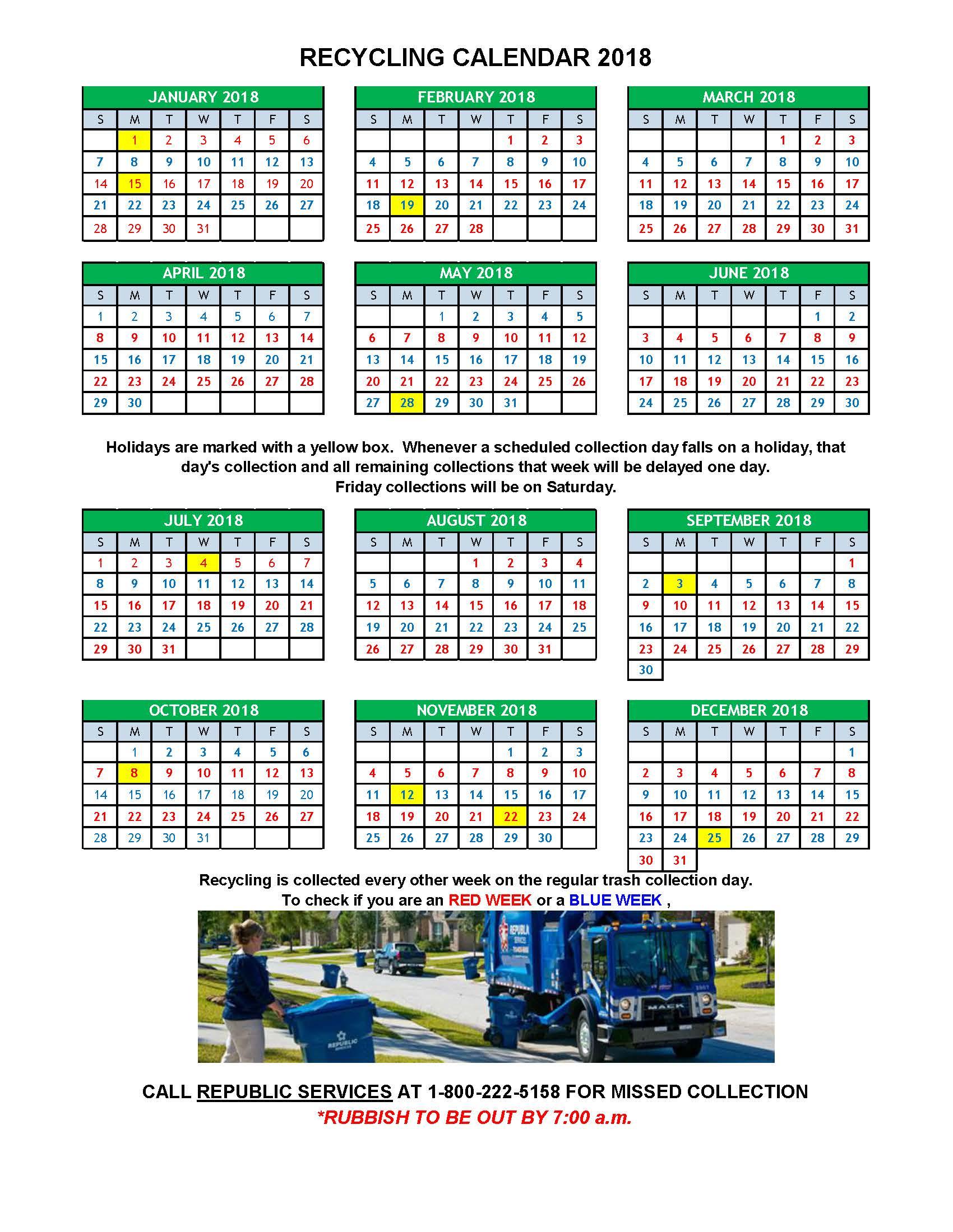 Calendar Republic Services : Recycling canton ma official website