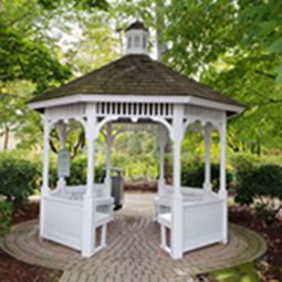 White gazebo in the park
