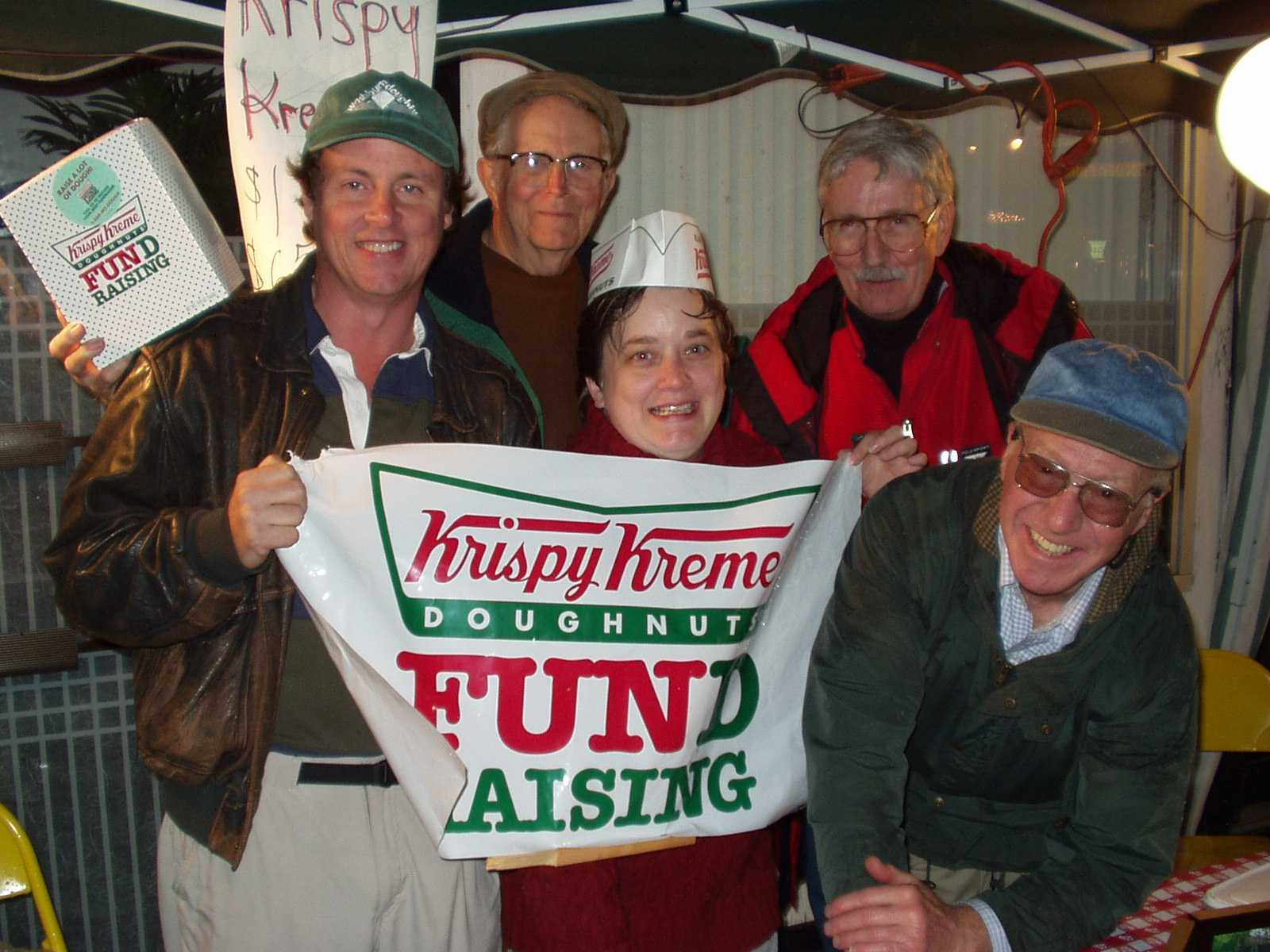 The Crew selling Krispy Kreme Donuts
